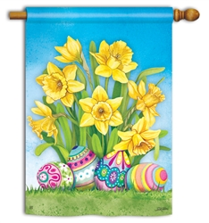 Easter Daffodils BreezeArt Standard House Flag