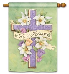 Easter Cross BreezeArt Standard House Flag