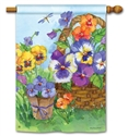 Pansy Lane BreezeArt Standard House Flag