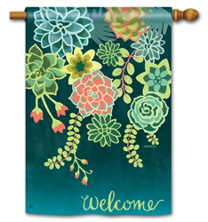 Boho Succulents BreezeArt Standard House Flag