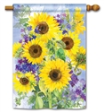 Sunflower Burst BreezeArt Standard House Flag