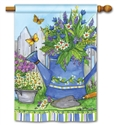 Painted Watering Can BreezeArt Standard House Flag