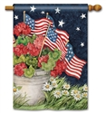 Geraniums with Flags BreezeArt Standard House Flag