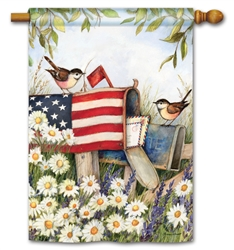 Patriotic Mailbox BreezeArt Standard House Flag