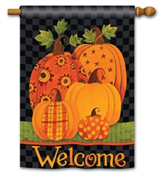 Patterned Pumpkins BreezeArt Standard House Flag