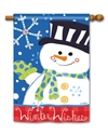Winter Wishes BreezeArt Standard House Flag