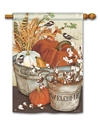 Farmhouse Pumpkins BreezeArt Standard House Flag