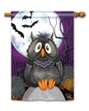 Moonlight Owl BreezeArt Standard House Flag
