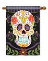Sugar Skulls BreezeArt Standard House Flag