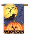Halloween Crow BreezeArt Standard House Flag