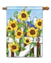 Sunflower Gate BreezeArt Standard House Flag