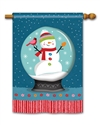 Snow Globe BreezeArt Standard House Flag