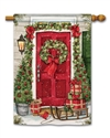 Christmas Wishes BreezeArt Standard House Flag