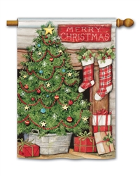 Christmas Tree BreezeArt Standard House Flag