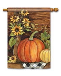 Harvest Gathering BreezeArt Standard House Flag