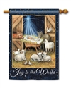 Joy to the World BreezeArt Standard House Flag