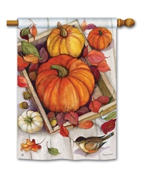 Pumpkin Crate BreezeArt Standard House Flag