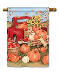 Pumpkin Delivery BreezeArt Standard House Flag