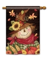 Autumn Scarecrow BreezeArt Standard House Flag