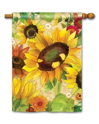 Yellow Sunflower BreezeArt Standard House Flag