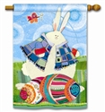 Funny Bunny Decorative Standard House Flag