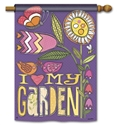 Love My Garden  Decorative Standard House Flag