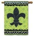 Polka Dot Fleur de Lis BreezeArt  Decorative Standard House Flag