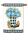 Black and White Wellies BreezeArt Standard House Flag