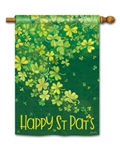 Shamrock Shower BreezeArt Standard House Flag