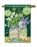 Lucky Shamrocks BreezeArt Standard House Flag