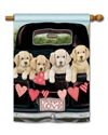 Puppy Love BreezeArt Standard House Flag