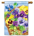 Pansy Blooms BreezeArt Standard House Flag