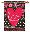 Valentine Love BreezeArt Standard House Flag