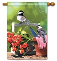Chickadee Rest Stop BreezeArt Standard House Flag