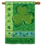 Happy St. Pat's BreezeArt House Flag