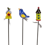 Birdhouse Party Plant Pokes by Lynn Morris
