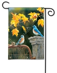 Bluebird Meeting BreezeArt Garden Flag