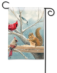 Winter Snack Time BreezeArt Garden Flag