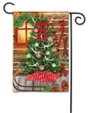 Christmas at the Cabin BreezeArt Garden Flag
