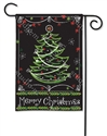 Blackboard Christmas BreezeArt Garden Flag
