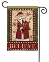 Santa with Star BreezeArt Garden Flag