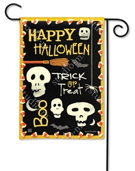 Skeleton Halloween BreezeArt Garden Flag