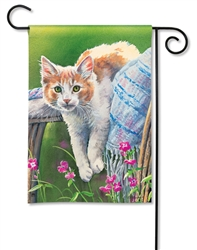 Kitty Cool Down BreezeArt Garden Flag