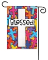 Colorful Crosses BreezeArt Garden Flag