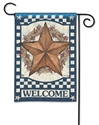 Blue Barn Star BreezeArt Garden Flag