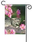Curious Kitty BreezeArt Garden Flag