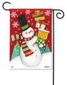 Happy Snowman BreezeArt Garden Flag