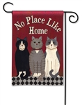 Kitties at Home BreezeArt Garden Flag