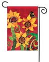 Peace Sunflower BreezeArt Garden Flag