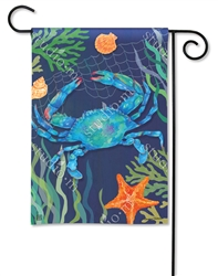 Blue Crab BreezeArt Garden Flag